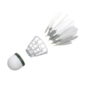 3-in-1 Shuttlecock in pieces
