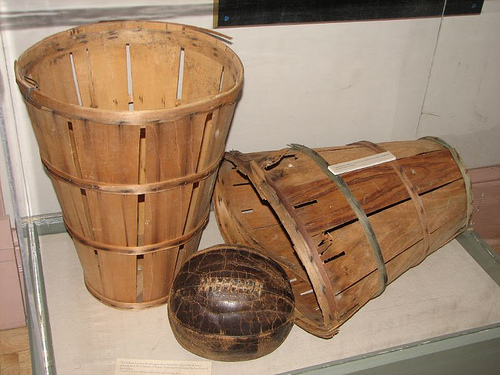 Original Basketball basket and Leather ball